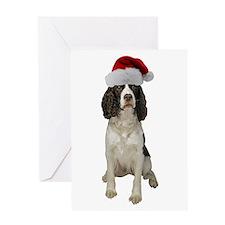 Springer Spaniel Santa Greeting Card