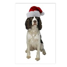 Springer Spaniel Santa Postcards (Package of 8)