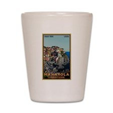 Manarola Town Shot Glass