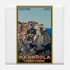 Manarola Town Tile Coaster