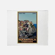 Manarola Town Throw Blanket