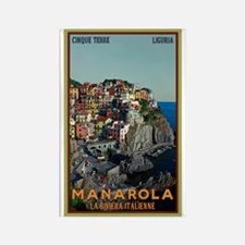Manarola Town Rectangle Magnet