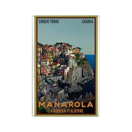 Manarola Town Rectangle Magnet (100 pack)