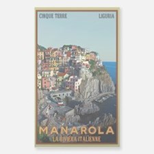 Manarola Town Sticker (Rectangle)