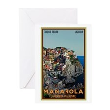 Manarola Town Greeting Card