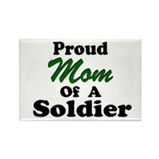 Proud Mom of a Soldier Rectangle Magnet