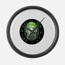 crystal skull Large Wall Clock