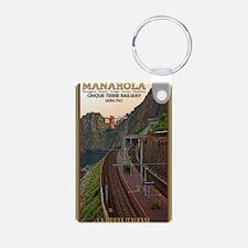 Cinque Terre Railway Aluminum Photo Keychain