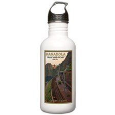 Cinque Terre Railway Water Bottle