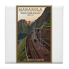 Cinque Terre Railway Tile Coaster
