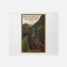 Cinque Terre Railway Throw Blanket