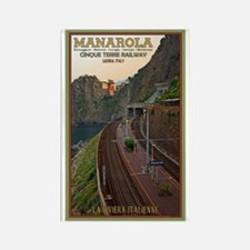 Cinque Terre Railway Rectangle Magnet