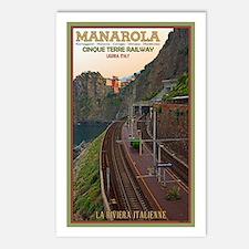 Cinque Terre Railway Postcards (Package of 8)