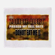 zombie art Throw Blanket