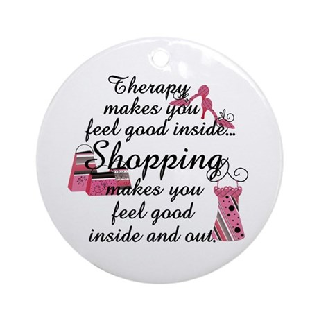 Retail Therapy Ornament (Round)