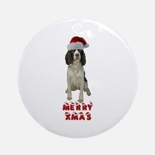 Springer Spaniel Christmas Ornament (Round)