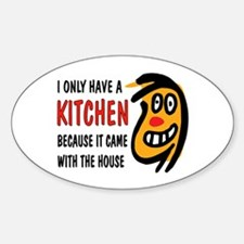 I DON'T COOK Sticker (Oval)