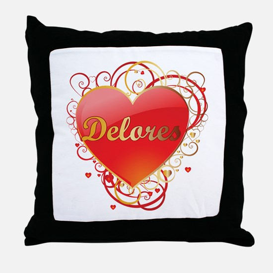 Delores Valentines Throw Pillow
