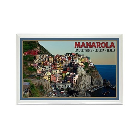 Manarola Town Rectangle Magnet (10 pack)