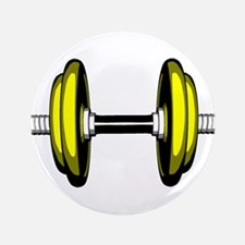 """Blonde Dumbbell 3.5"""" Button (100 pack)"""