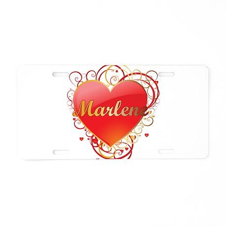 Marlene Valentines Aluminum License Plate