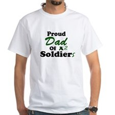 Proud Dad 2 Soldiers Shirt