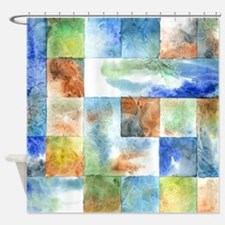 Slated Watercolor Shower Curtain
