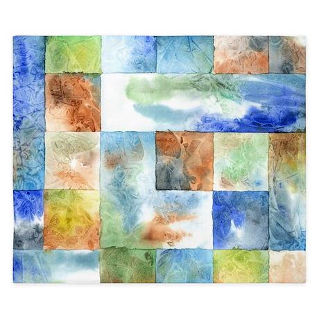 Slated Watercolor King Duvet Cover