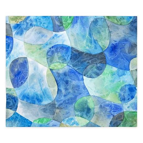 Aquatic Abstract King Duvet Cover