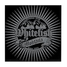 Whitefish Old Silver Tile Coaster