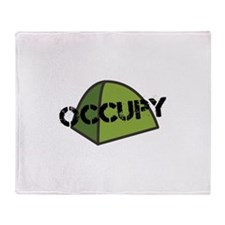 Occupy Tent Throw Blanket