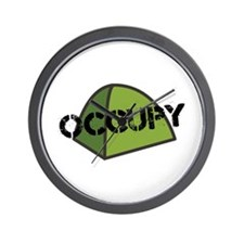 Occupy Tent Wall Clock