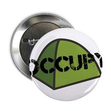 """Occupy Tent 2.25"""" Button"""