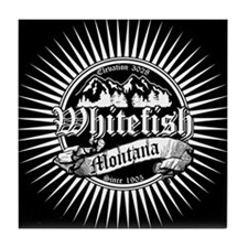 Whitefish Old Black Tile Coaster