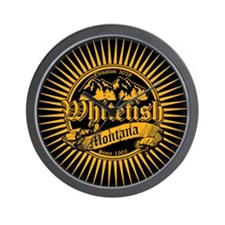 Whitefish Old Gold Wall Clock