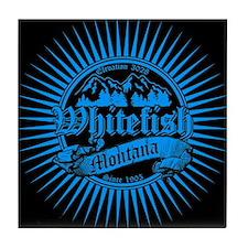 Whitefish Old Blue Tile Coaster