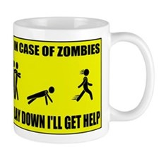 In Case of Zombies Lay Down I Mug