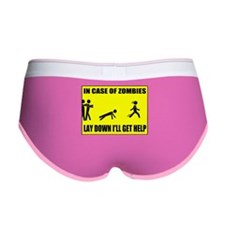 In Case of Zombies Lay Down I Women's Boy Brief