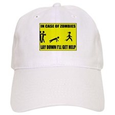 In Case of Zombies Lay Down I Baseball Cap