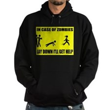 In Case of Zombies Lay Down I Hoodie