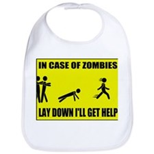 In Case of Zombies Lay Down I Bib