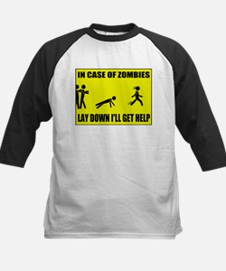 In Case of Zombies Lay Down I Tee