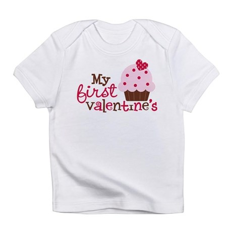 1st Valentines Day Cupcake Infant T-Shirt