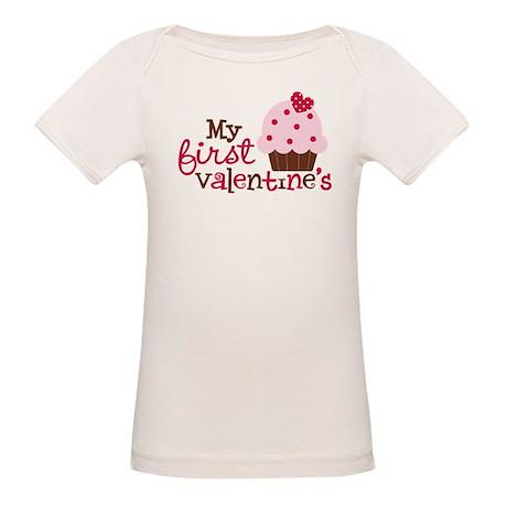 1st Valentines Day Cupcake Organic Baby T-Shirt