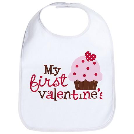 1st Valentines Day Cupcake Bib
