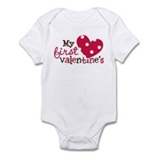 1st Valentines Day Heart Infant Bodysuit