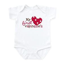 1st Valentines Day Heart Infant Bodysuit