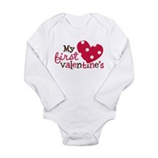 1st Valentines Day Heart Baby Outfits