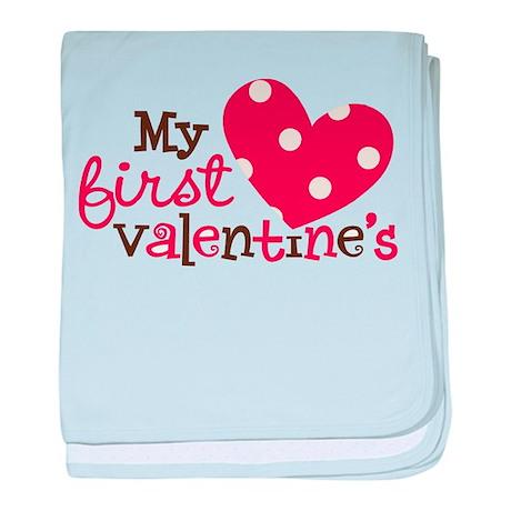 1st Valentines Day Heart baby blanket