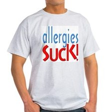 Allergies Suck Ash Grey T-Shirt